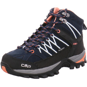 CMP Campagnolo Rigel Mid WP Trekking Shoes Women black blue-giada-peach